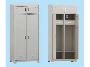 士兵两门物品柜(新钢塑制式营具)